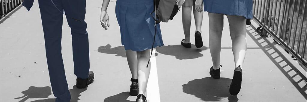 Teenagers school uniform