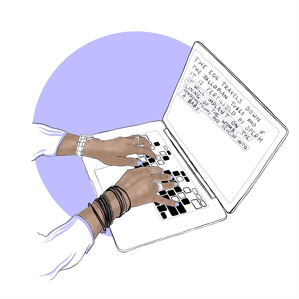The Femedic author holding image